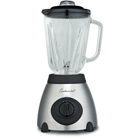 Continental Electric 5-Speed Blender Countertop Stainless Steel