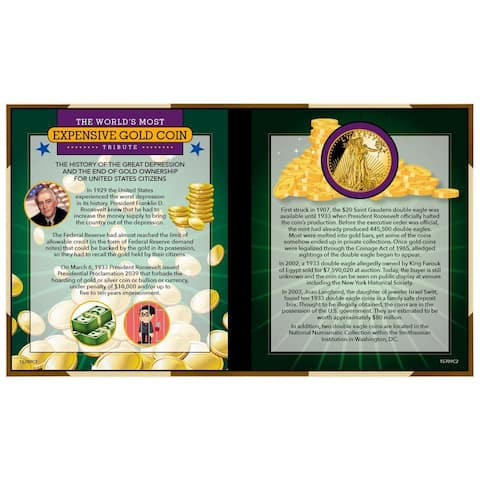 """World's Most Expensive Coin Tribute - 6"""" x 5.13"""""""