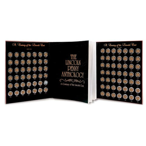 "Lincoln Penny Anthology Coffee Table Book and Coin Set - 13"" x 10.25"""