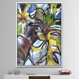 Designart 'Thompson Palm' Modern & Contemporary Premium Framed Canvas Wall Art