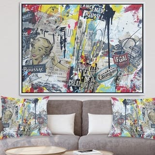 Designart 'Photo 16x20 -34' Modern & Contemporary Framed Canvas Art Print