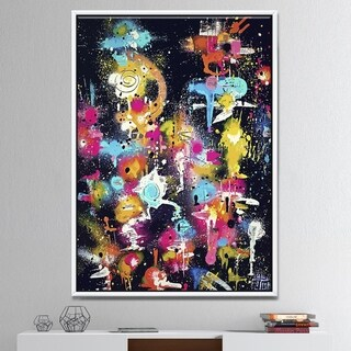 Designart 'The Lovers The Dreamers & Me' Modern & Contemporary Gallery-wrapped Framed Canvas