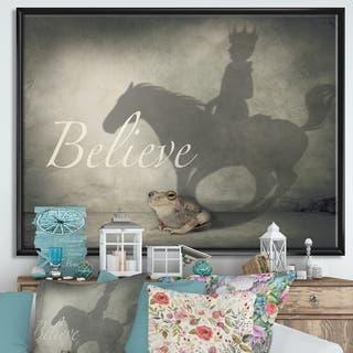 Designart 'Believe Shadow II' Cottage Framed Canvas Art Print