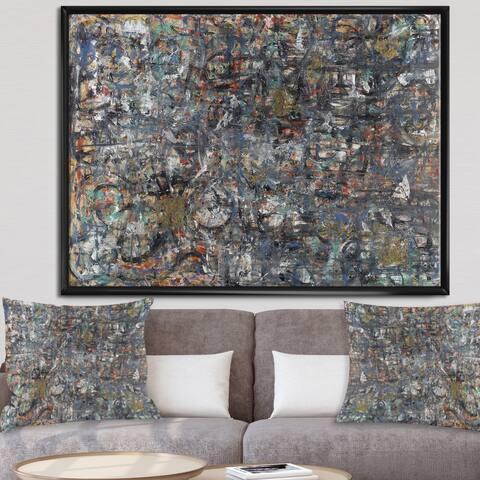 Designart 'Harlem Nocturne' Modern & Contemporary Framed Canvas Wall Art