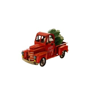 Red Truck With Pine Tree - N/A