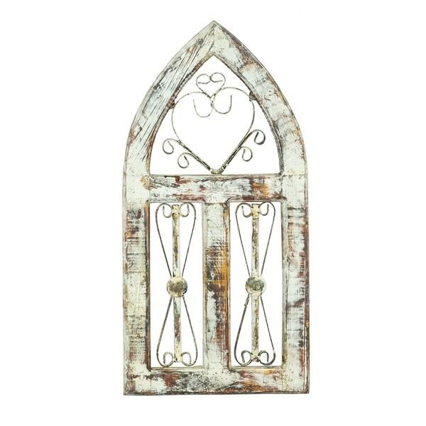 Church Window 3 Screens W/Iron