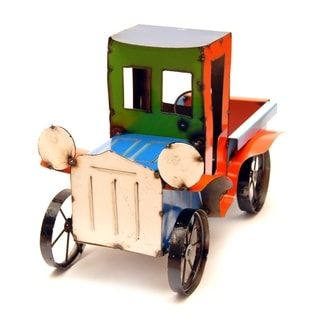 Green & Orange Pickup Truck Garden Decor
