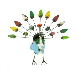 10193 Small Peacock Garden Art