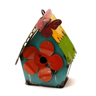 Hanging Birdhouse With Butterfly Small