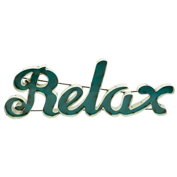 Relax Rebar Sign For Decor, 2 By 33