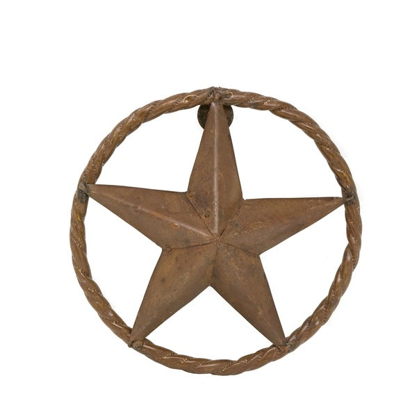 Rustic Star With Rope Ring For