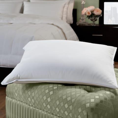 Porch & Den Shoreline White Cotton Down/ Feather Blend Hotel-style Pillow