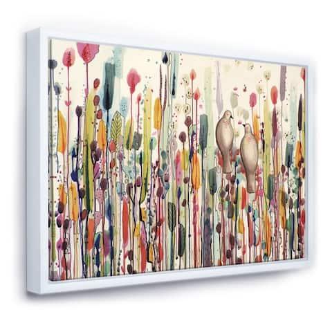 Designart 'L'un Pour L'autre' Cottage Framed Canvas Art Print