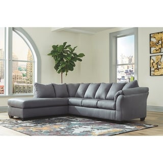Darcy 2-Piece Sectional w/ Chaise - Slate