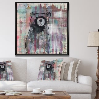 Designart 'Bear Meditates' Cottage Framed Canvas Wall Art