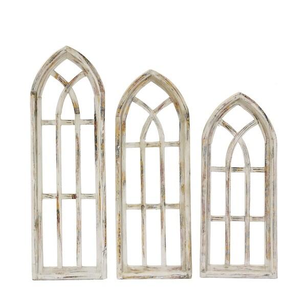 Set Of 3 Gothic Church Window - N/A