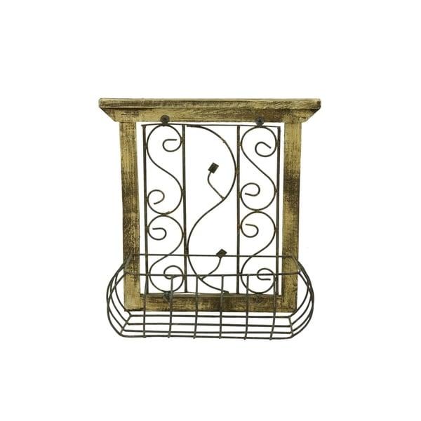 Wood Window W/Basket - N/A