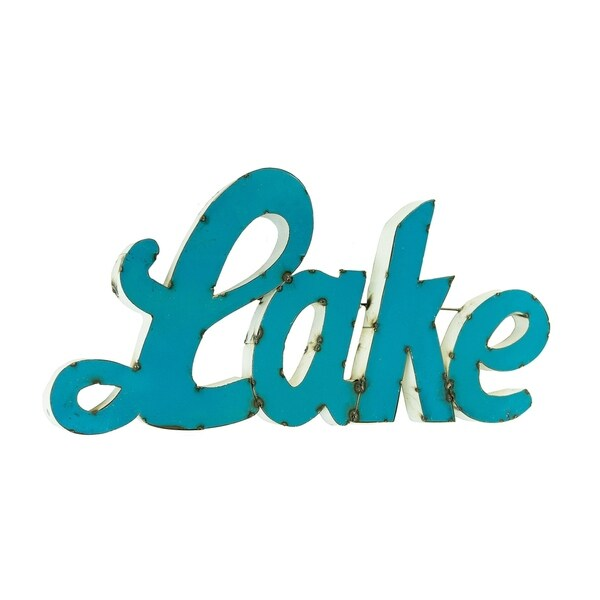 "Lake Sign For Decor, 2"" X 36"""