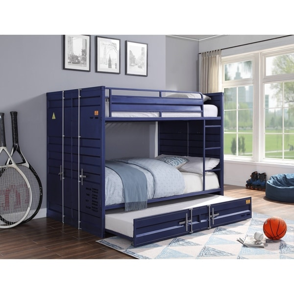 Cargo Full over Full Bunk Bed with Trundle - Blue