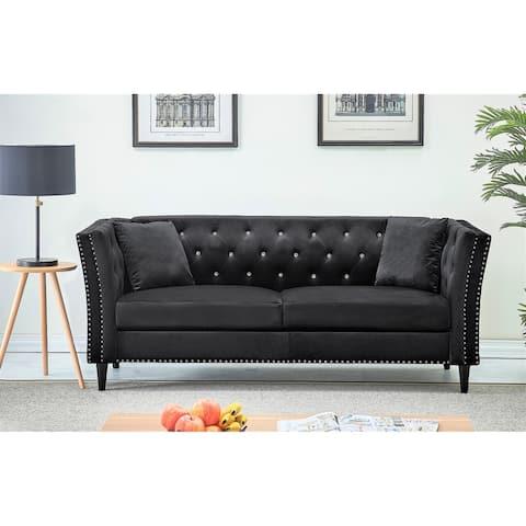 Gracewood Hollow Sukikim Velvet Sofa