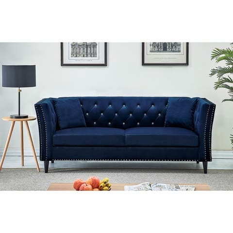 Buy Blue, Velvet Sofas & Couches Online at Overstock | Our ...