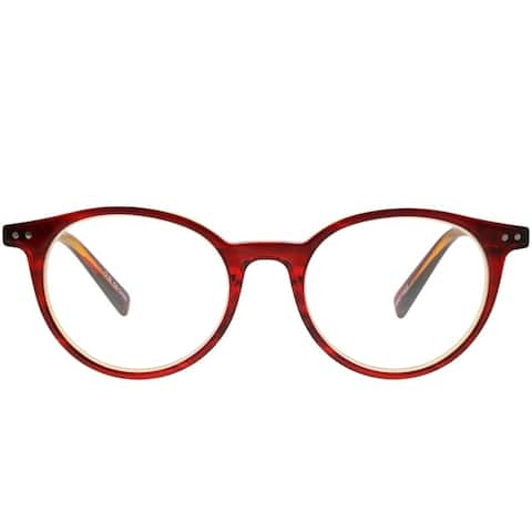 Eyebobs Case Closed EB 2419 77 2.25 Unisex Red on Orange Crystal Frame Reading Glasses 49mm