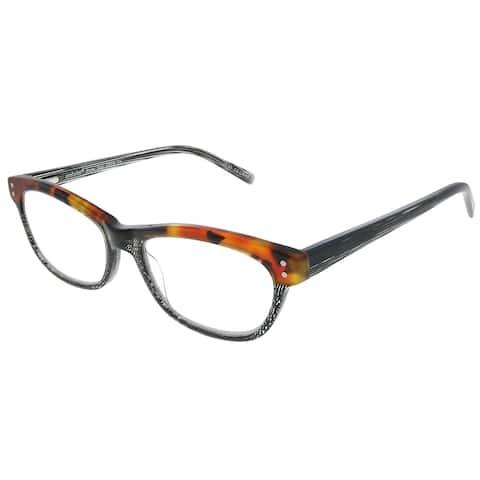 Eyebobs Stew Zoo EB 2898 74 2.00 Unisex Tortoise and Black Variegated Frame Reading Glasses 52mm