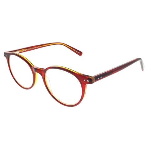 Eyebobs Case Closed EB 2419 77 2.00 Unisex Red on Orange Crystal Frame Reading Glasses 49mm