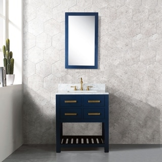 30 Inch Monarch Blue Single Sink Bathroom Vanity From The Madalyn Collection