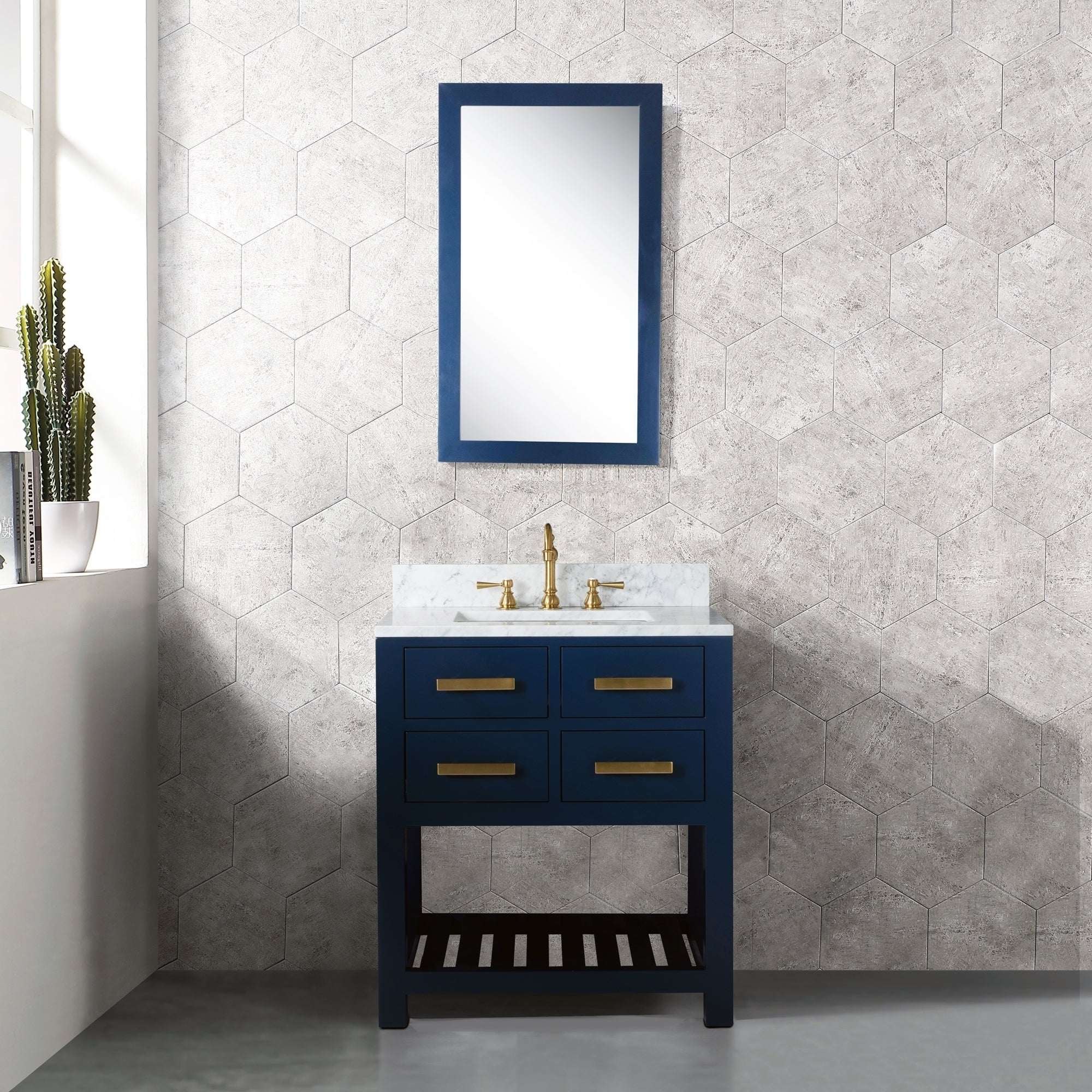 Shop For 30 Inch Monarch Blue Single Sink Bathroom Vanity From The Madalyn Collection Get Free Delivery On Everything At Overstock Your Online Furniture Outlet Store Get 5 In Rewards With Club O 28807304