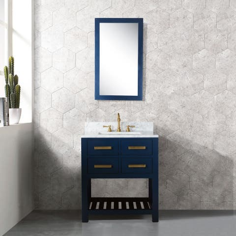 24 Inch Monarch Blue Single Sink Bathroom Vanity From The Madalyn Collection