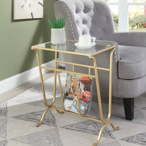 Westbury Magazine Rack Accent Table