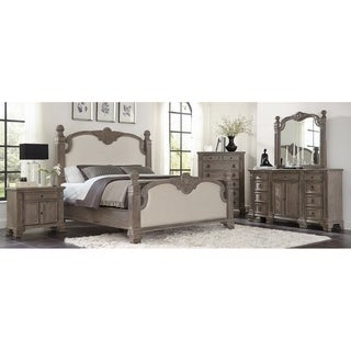 Colby Vintage Grey 3-piece Panel Bedroom Set with 2 Nightstands