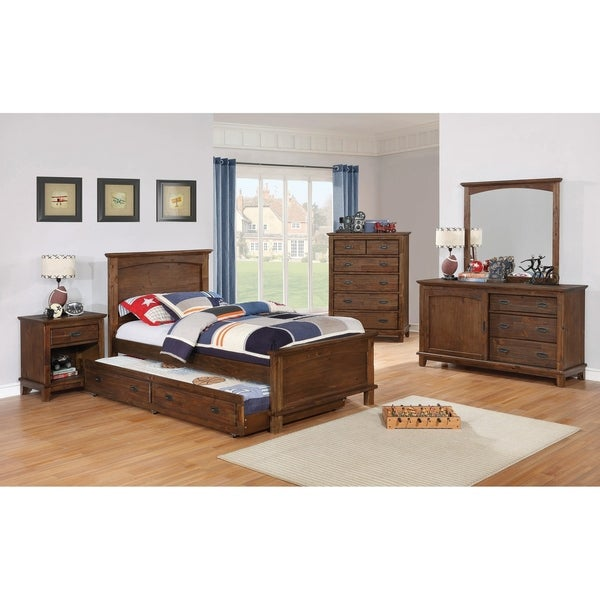 Howes Country Brown 2-piece Platform Bedroom Set with Nightstand
