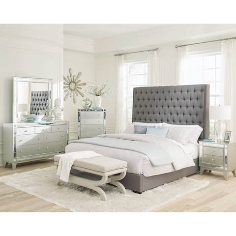 Briarley Grey 2-piece Upholstered Bedroom Set with Dresser