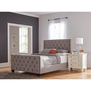 Hadley Grey 2-piece Upholstered Bedroom Set with Nightstand