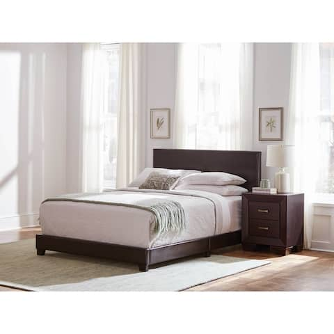 Warwick Brown 2-piece Upholstered Bedroom Set with Nightstand