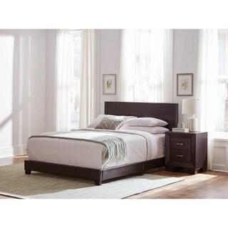 Warwick Brown 3-piece Upholstered Bedroom Set with 2 Nightstands
