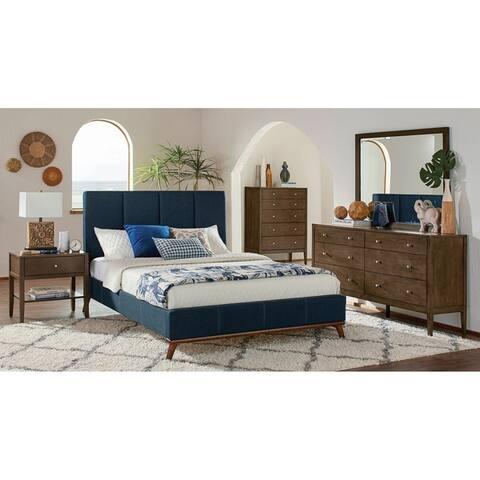 Alden Blue 2-piece Upholstered Bedroom Set with Dresser