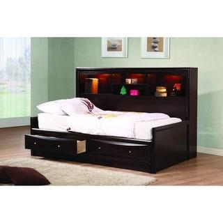 Vanessa Cappuccino 3-piece Storage Bedroom Set with 2 Nightstands
