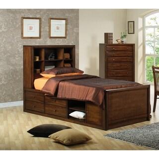 Hopedale Warm Brown 2-piece Storage Bedroom Set with Nightstand