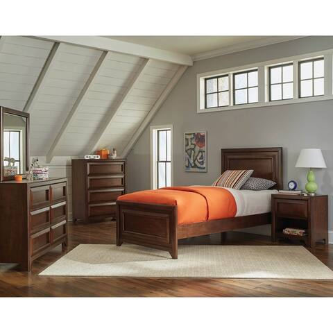 Cassidy Maple Oak 2-piece Panel Bedroom Set with Nightstand