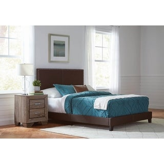 Amherst Brown and Washed Taupe 2-piece Bedroom Set with Nightstand