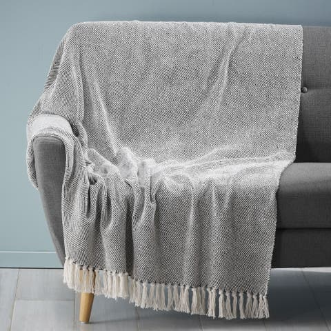 Berkley Handcrafted Fabric Throw Blanket by Christopher Knight Home