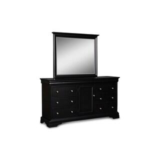 Belle Rose Black Cherry 1-door and 6-drawer Dresser