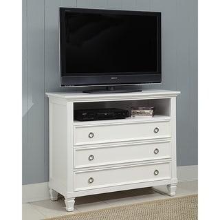 Tamarack White 3-drawer Media Chest