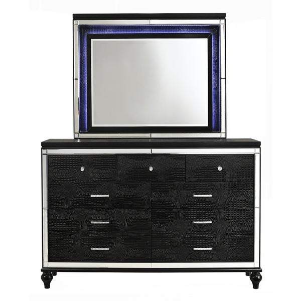 Valentino Black 9-drawer Dresser