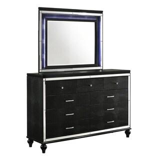 Valentino Black 9-drawer Dresser