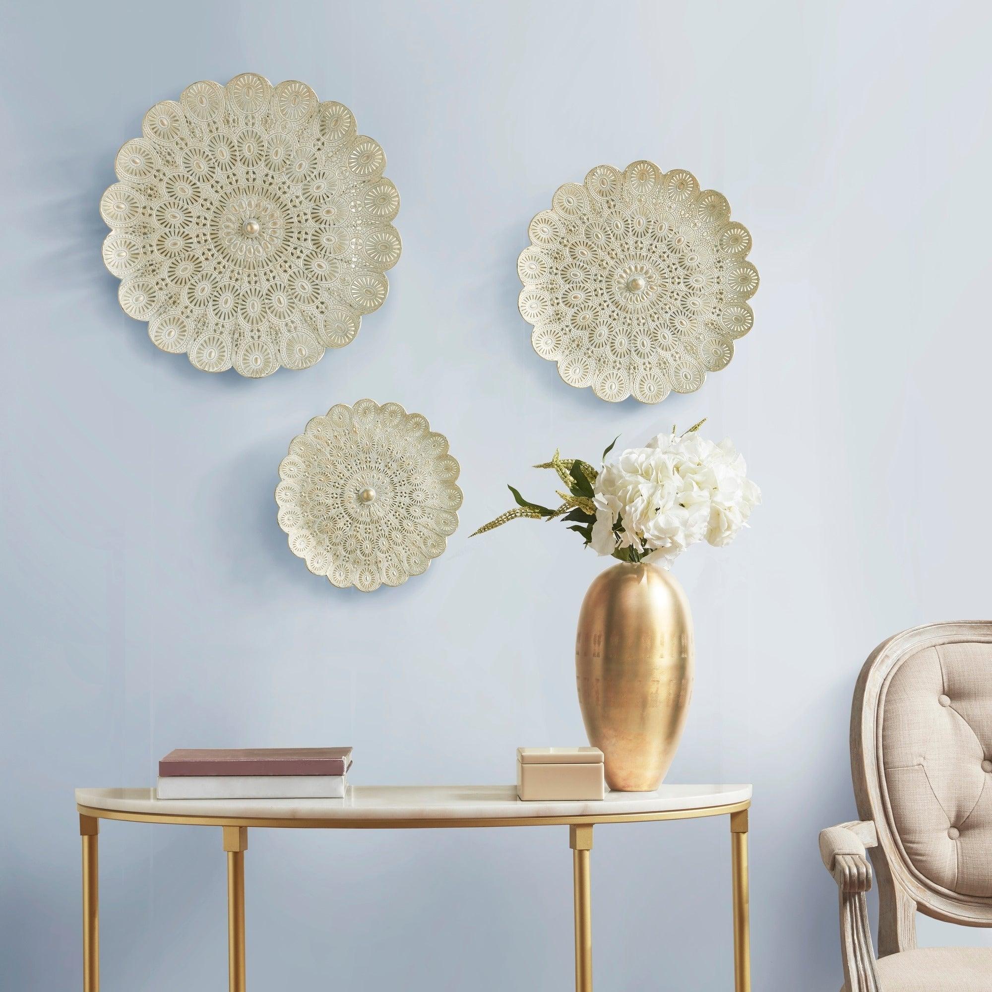 Gold Brush Wall Decor Set