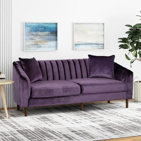 Ansonia 3-seat Contemporary Velvet Sofa by Christopher Knight Home